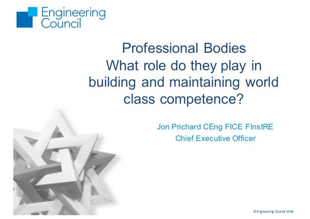 professional bodies  role   play  building  maintaini