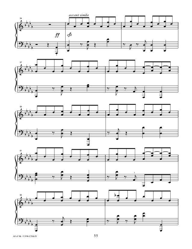 All Music Chords all of me sheet music : All Of Me - Jon Schmidt
