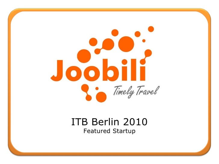 ITB Berlin 2010 Featured Startup
