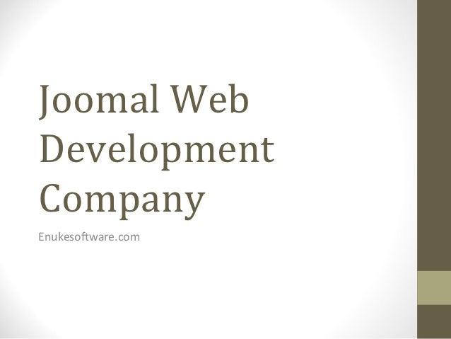 Joomal WebDevelopmentCompanyEnukesoftware.com