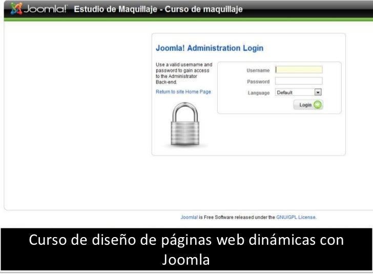 Curso de Diseño web con Joomla<br />Curso de diseño de páginas web dinámicas con Joomla<br />