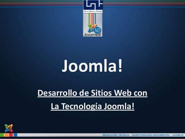 Joomla!Desarrollo de Sitios Web conLa Tecnología Joomla!