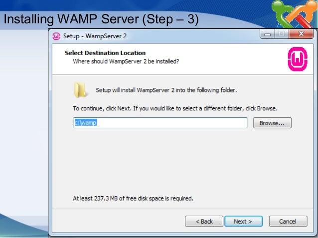 Configuring & Installing Joomla on Windows using WAMP Server