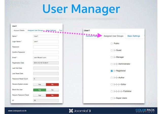 สร้าง Module User Menu โมดูลเมนูสมาชิก จะแสดง เฉพาะ ที่ Login (4) แล้ว และดึงเมนู User Menu มา แสดง (2)