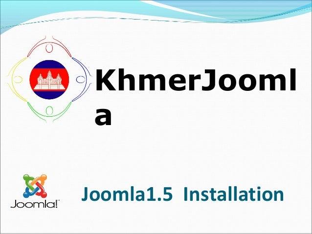 KhmerJooml a Joomla1.5 Installation