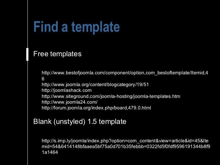 Joomla creative inside joomla templates and design for Joomla empty template
