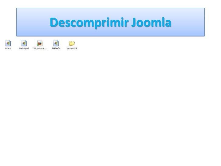 Descomprimir Joomla<br />