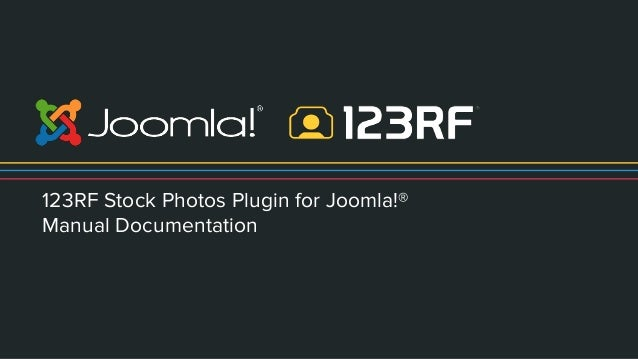 123rf stock photos plugin for joomla manual documentation