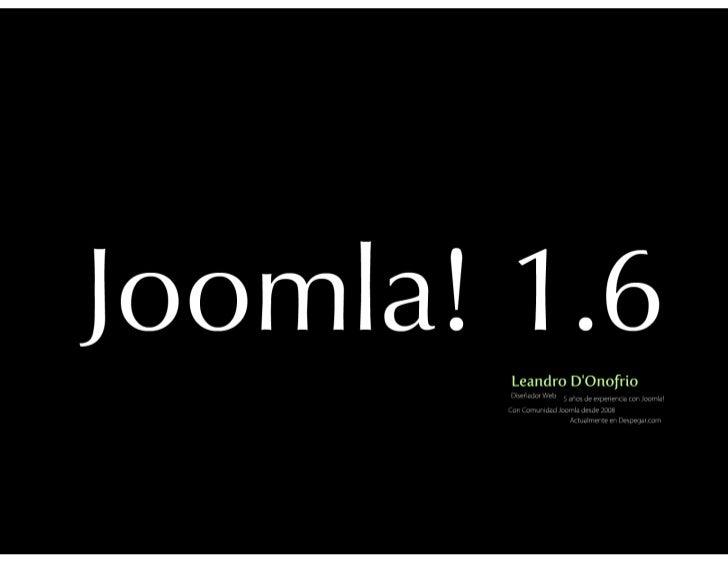 Joomla Baires 2011: Presentación Joomla! 1.6