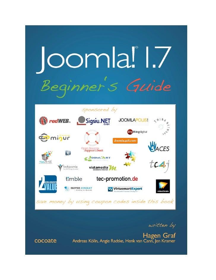 Joomla! 1.7Beginner's Guide                   2