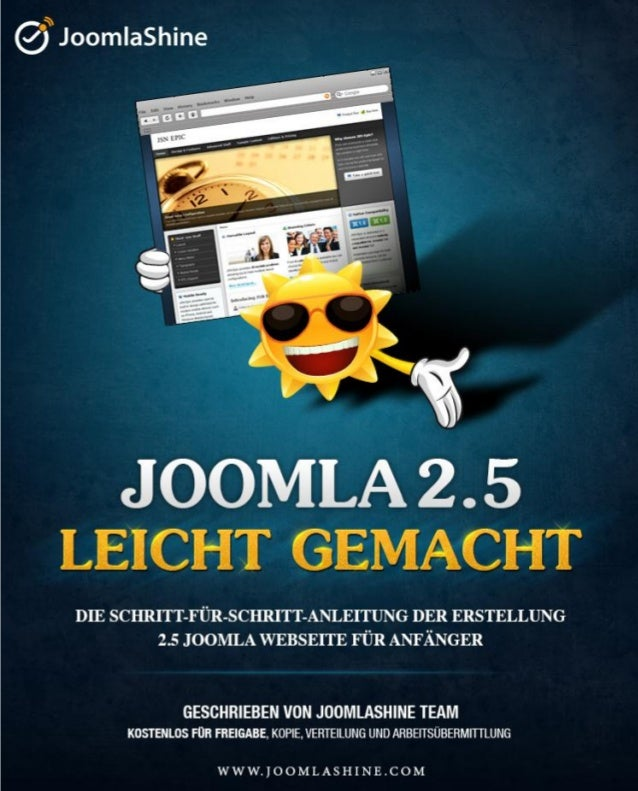 """Joomla 2.5 leicht gemacht"" © JoomlaShine.comTwitter http://www.twitter.com/joomlashine | Facebook http://www.facebook.com..."
