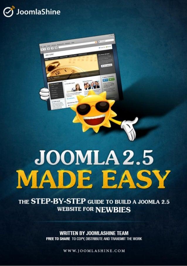 """Joomla 2.5 Made Easy"" © JoomlaShine.com        Twitter http://www.twitter.com/joomlashine   Facebook http://www.facebook...."