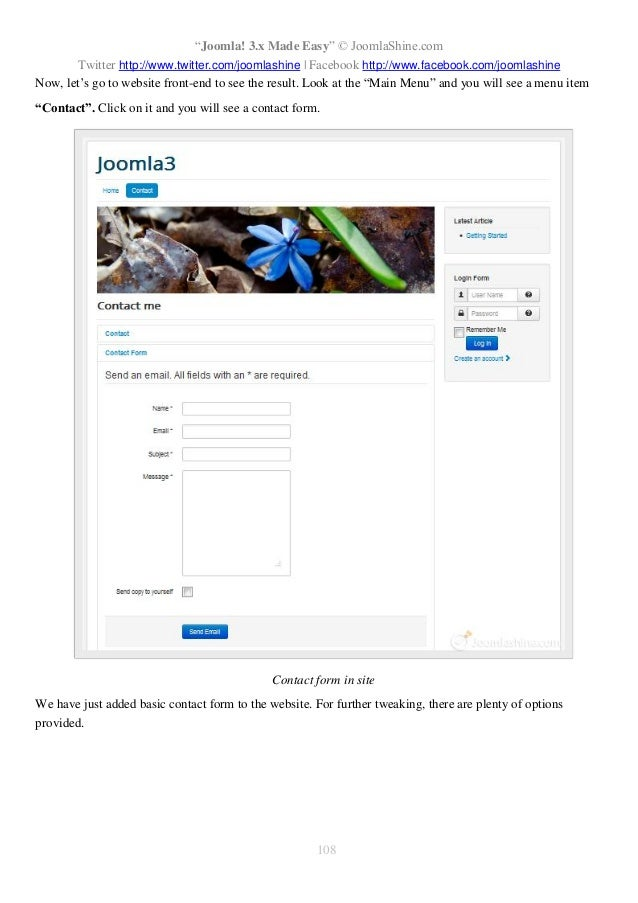 """Joomla! 3.x Made Easy"" © JoomlaShine.com Twitter http://www.twitter.com/joomlashine | Facebook http://www.facebook.com/jo..."