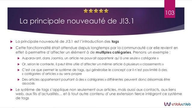 La principale nouveauté de J!3.1  La principale nouveauté de J!3.1 est l'introduction des tags  Cette fonctionnalité éta...