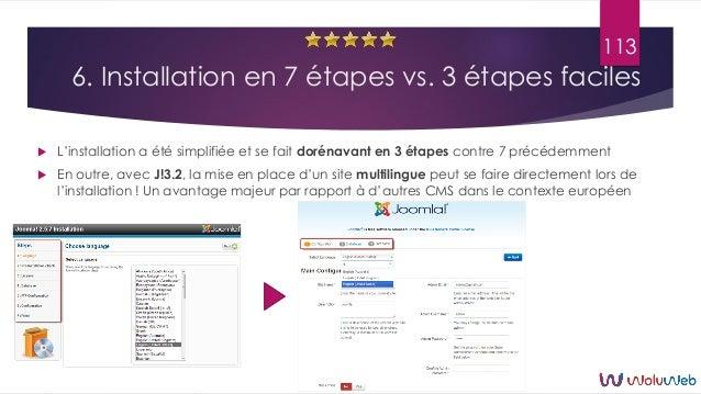 6. Installation en 7 étapes vs. 3 étapes faciles  L'installation a été simplifiée et se fait dorénavant en 3 étapes contr...