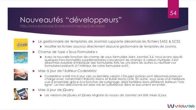 """Nouveautés """"développeurs"""" https://www.joomla.org/3/component/tags/tag/2-developer  Le gestionnaire de templates de Joomla..."""