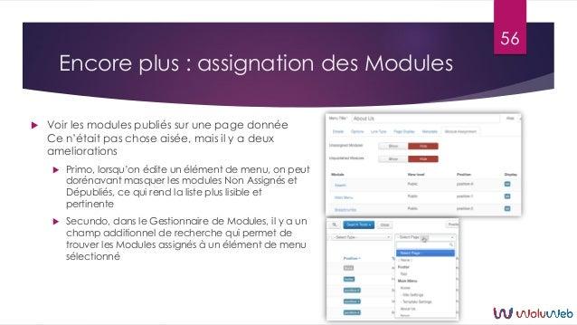 Encore plus : assignation des Modules  Voir les modules publiés sur une page donnée Ce n'était pas chose aisée, mais il y...
