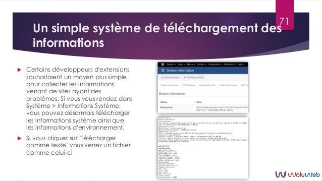 Un simple système de téléchargement des informations  Certains développeurs d'extensions souhaitaient un moyen plus simpl...