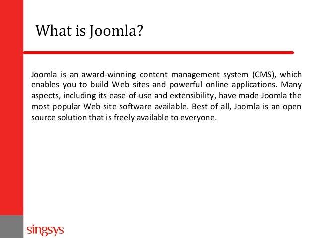Joomla 3 installation and management guide Slide 2