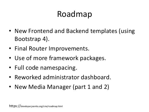 joomla 4 0 what s coming in future