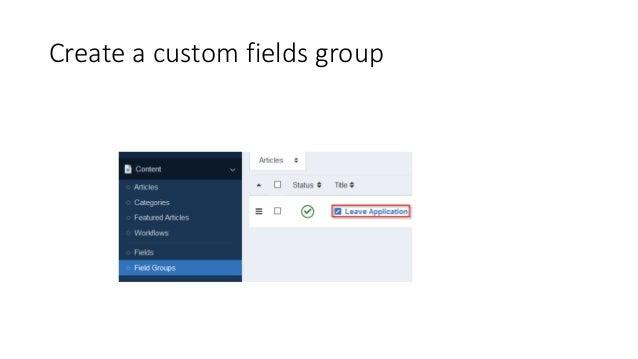 Create a custom fields group