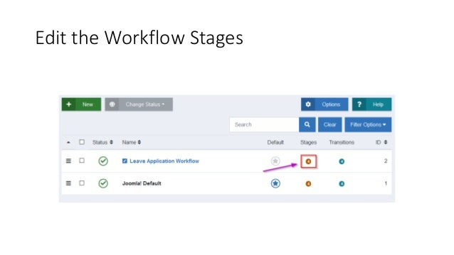 Edit the Workflow Stages