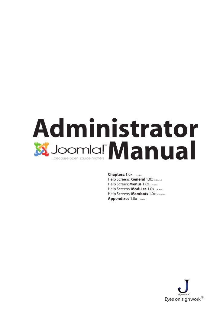 Administrator     Manual     Chapters: 1.0x ( 23 items )     Help Screens: General 1.0x ( 42 items )     Help Screen: Menu...