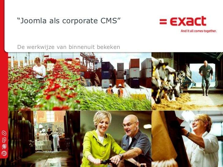 Joomla als corporate cms - Ebo Eppenga