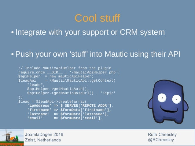 Automating your marketing workflows in Joomla with Mautic