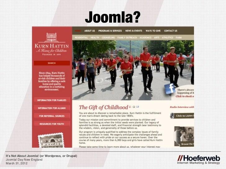 It's not about Joomla, (or WordPress or Drupal) - 웹