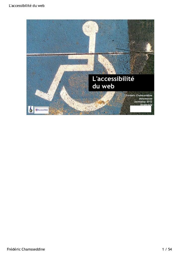Laccessibilité du web                                                           Laccessibilité                            ...
