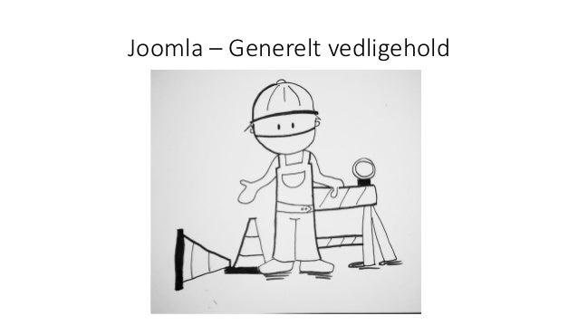 Joomla – Generelt vedligehold
