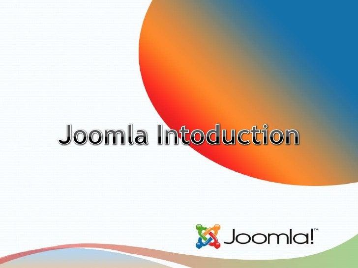 JoomlaIntoduction<br />