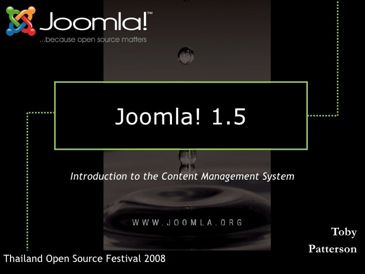 Joomla! 1.5                Introduction to the Content Management System                                                  ...
