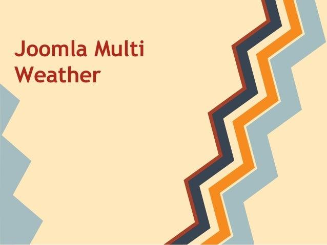 Joomla Multi Weather