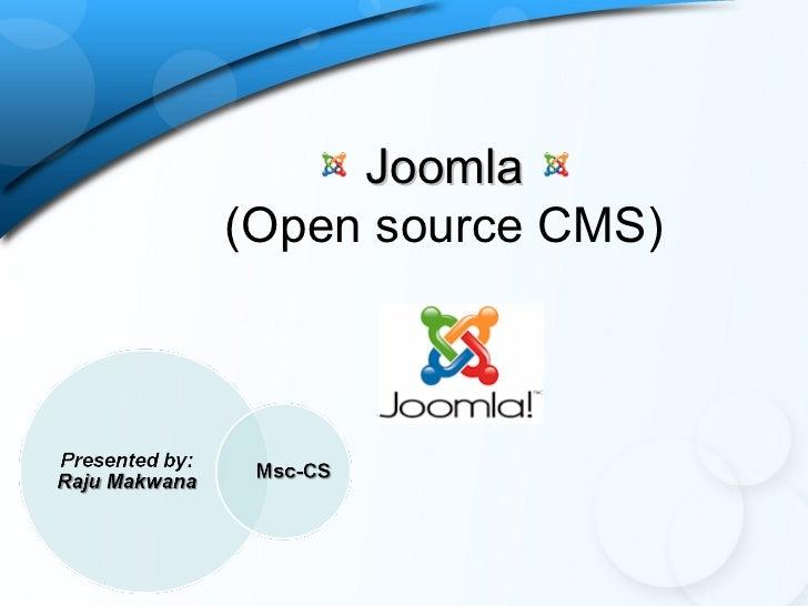 Joomla(Open source CMS)