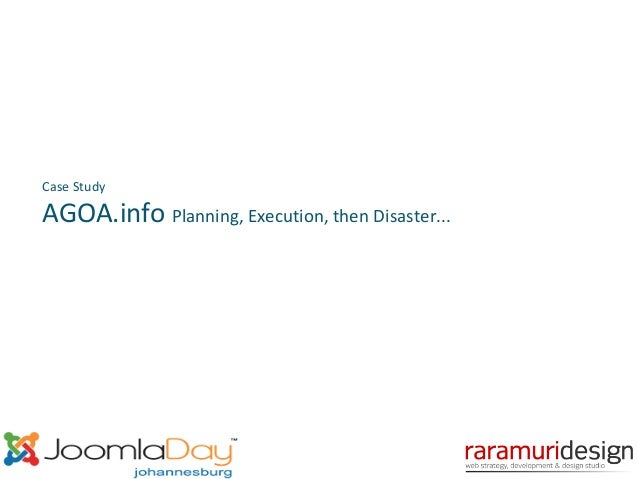 Case Study  AGOA.info Planning, Execution, then Disaster...