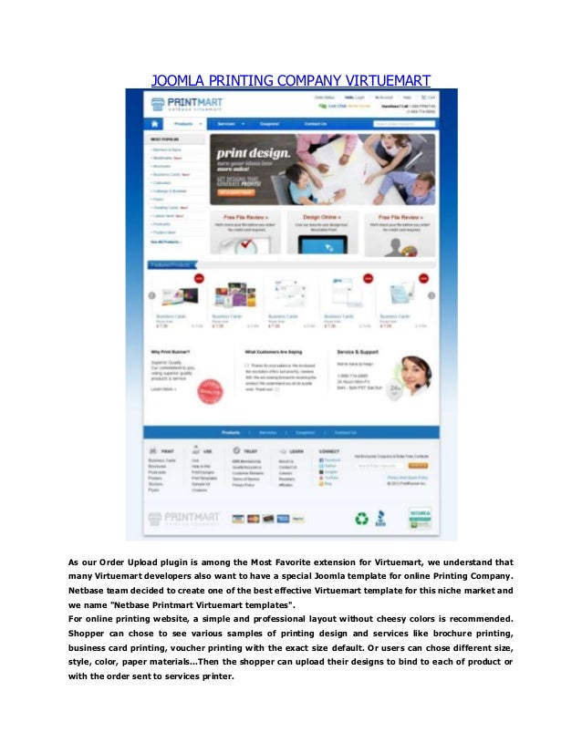 printing company website template with image upload order. Black Bedroom Furniture Sets. Home Design Ideas