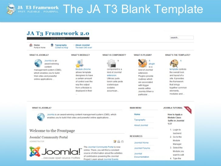 Joomlart t3 v2 0 template framework for joomla for Joomla empty template