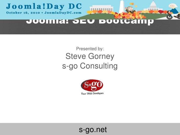 Joomla SEO Bootcamp