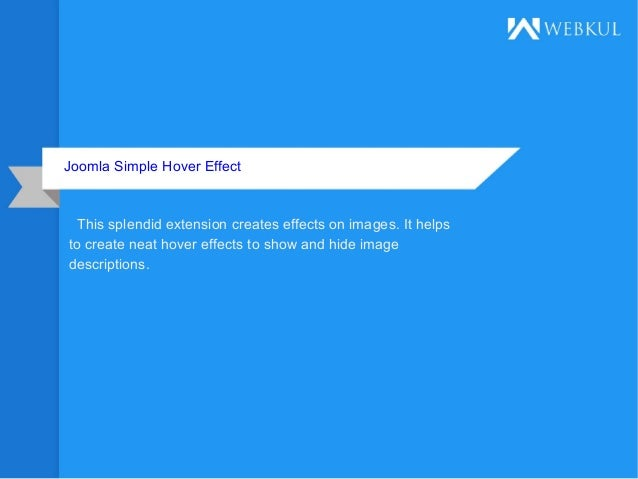 Joomla simple hover effect