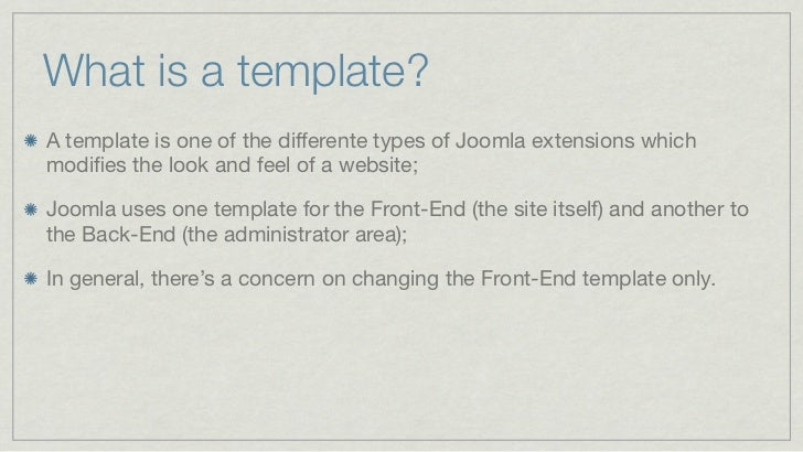 Turning a static html page into a joomla template what is a template maxwellsz