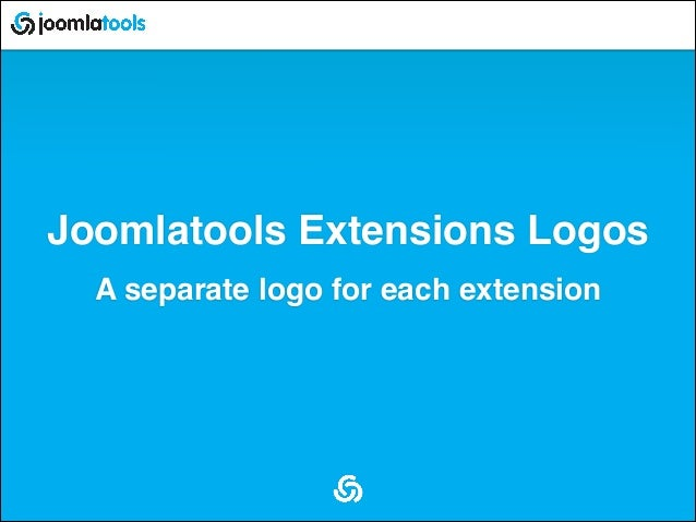 Joomlatools Extensions Logos A separate logo for each extension