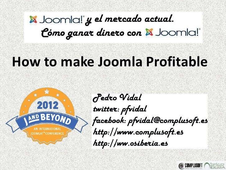 How to make Joomla Profitable
