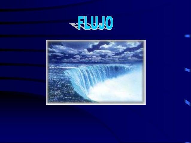 """F L U J O Cantidad de materia que pasa por un punto determinado en la unidad de tiempo. """"Sustancia que fluye cuando se som..."""