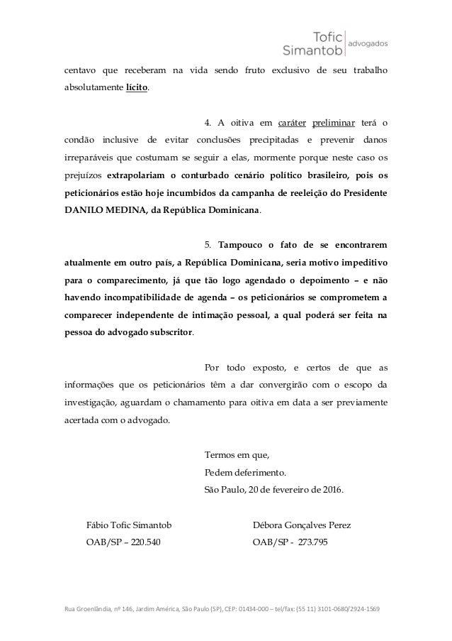 João santana   peticão comparecimento Slide 2