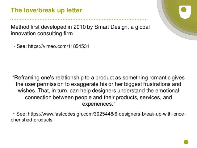 Love Letters And Break Up Letters; 2.