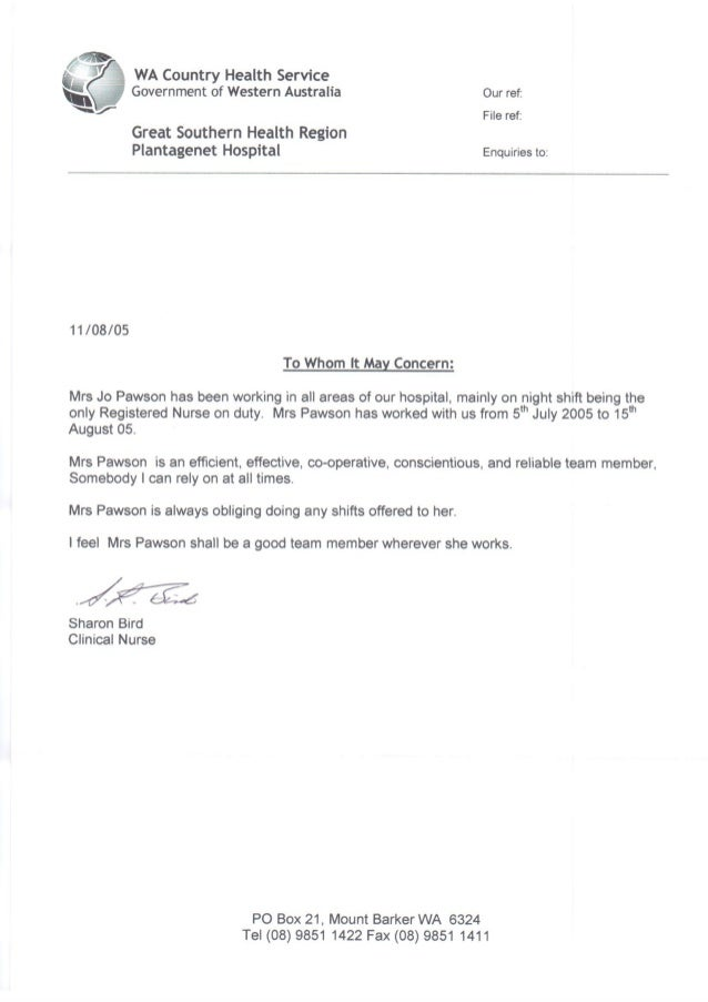 referee letter of recommendation