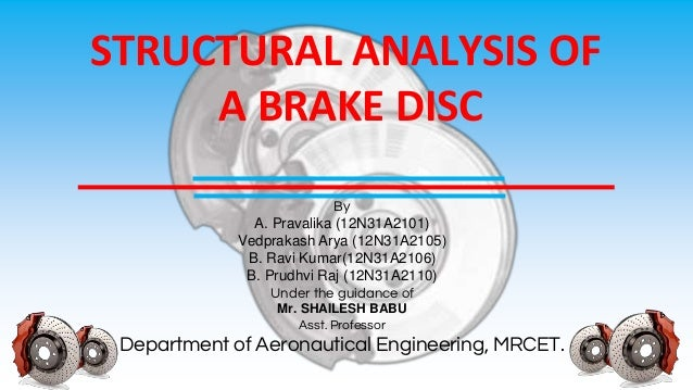 Structural analysis of a brake disc pptm