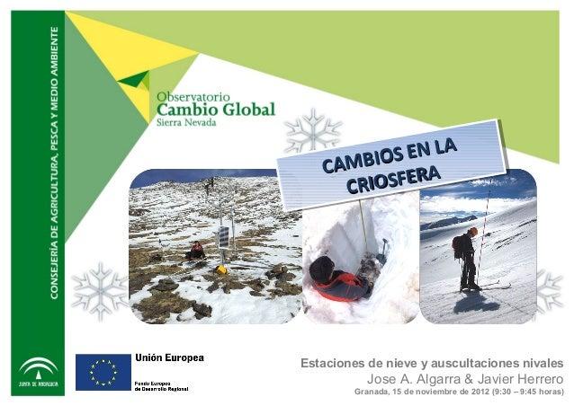 EN L A          O S EN L A    AMBIIOS A   C AMB   C      CR      C IIOSFER A       R O S F EREstaciones de nieve y auscult...